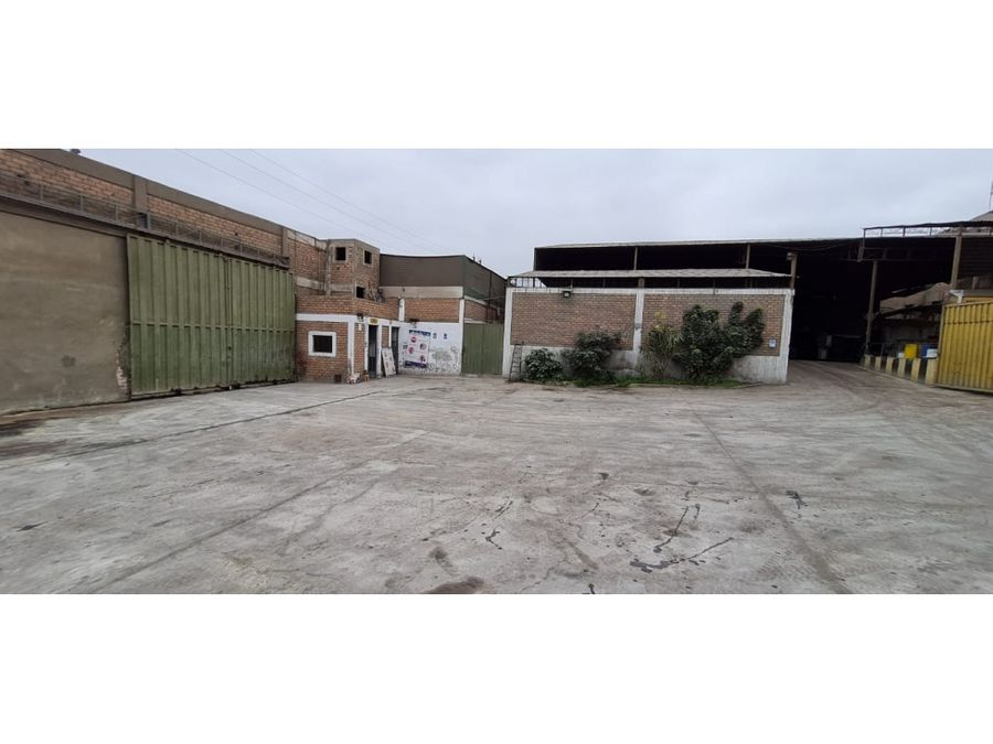 vendo terreno industrial de 2861m2 en ventanilla callao