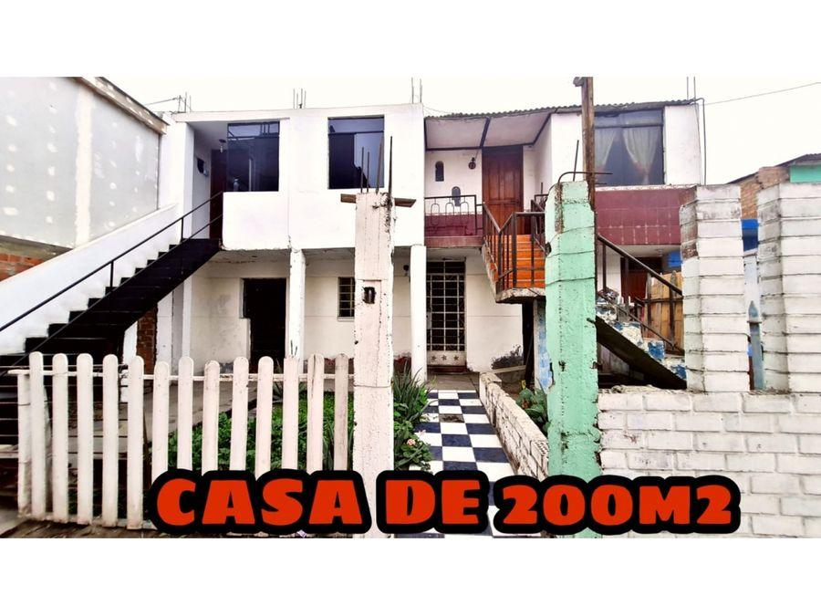 vendo casa como terreno de 240m2 en urb satelite ventanilla callao