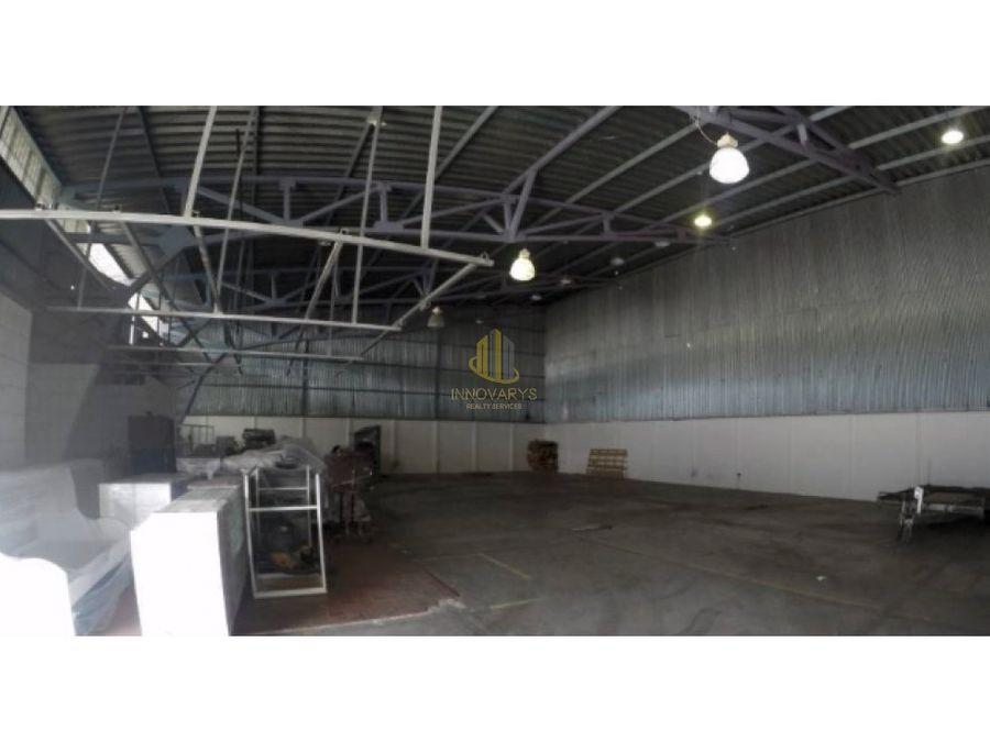 alquiler de bodega de 290 m2 en complejo en pavas
