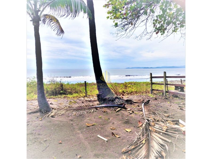 venta de lote 77137 m2 frente al mar en playa tivives
