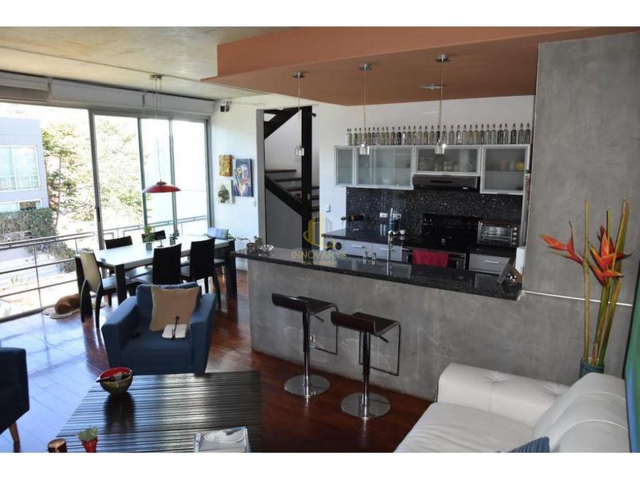 alquiler de loft de 1 cuarto en condominio en guachipelin sur escazu