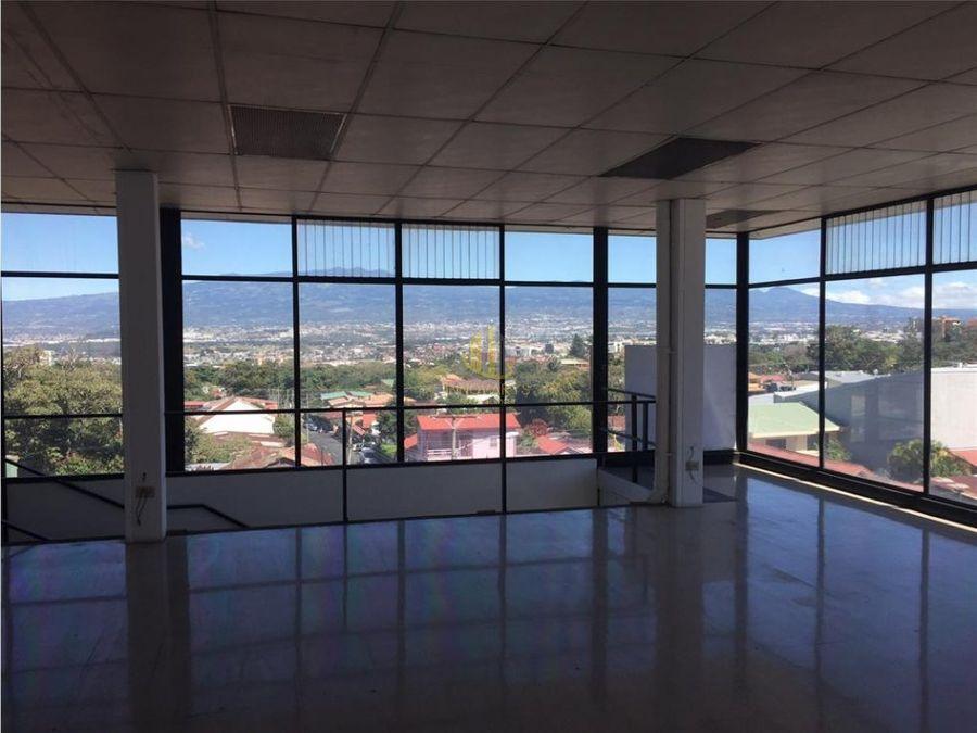 alquiler local 200 m2 en edificio escazu centro