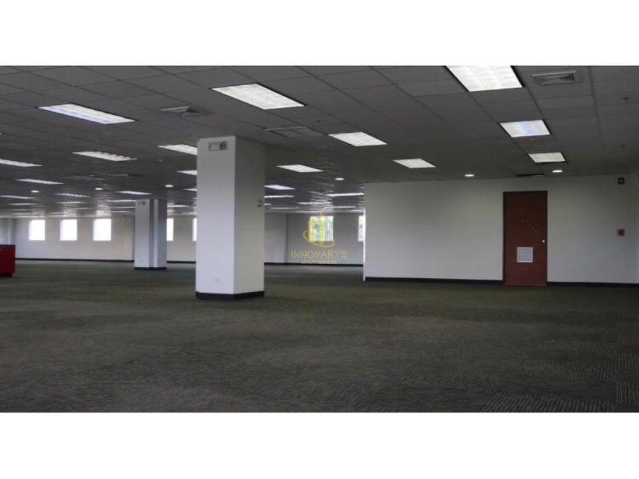 alquiler de oficina de 600 m2 en oficentro en multipark escazu