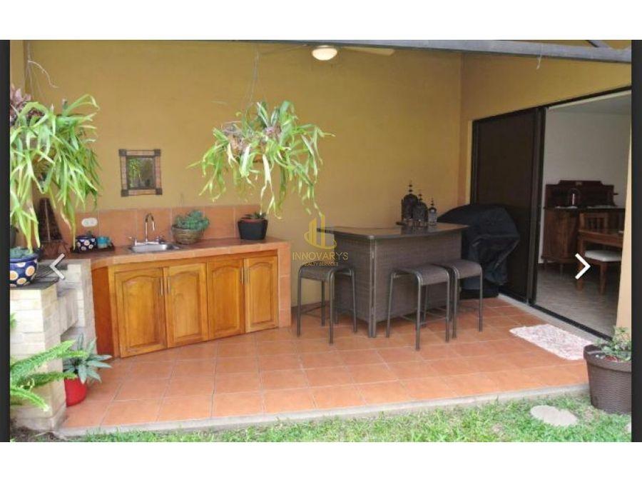 casa de dos plantas en condominio a la venta san rafael de escazu
