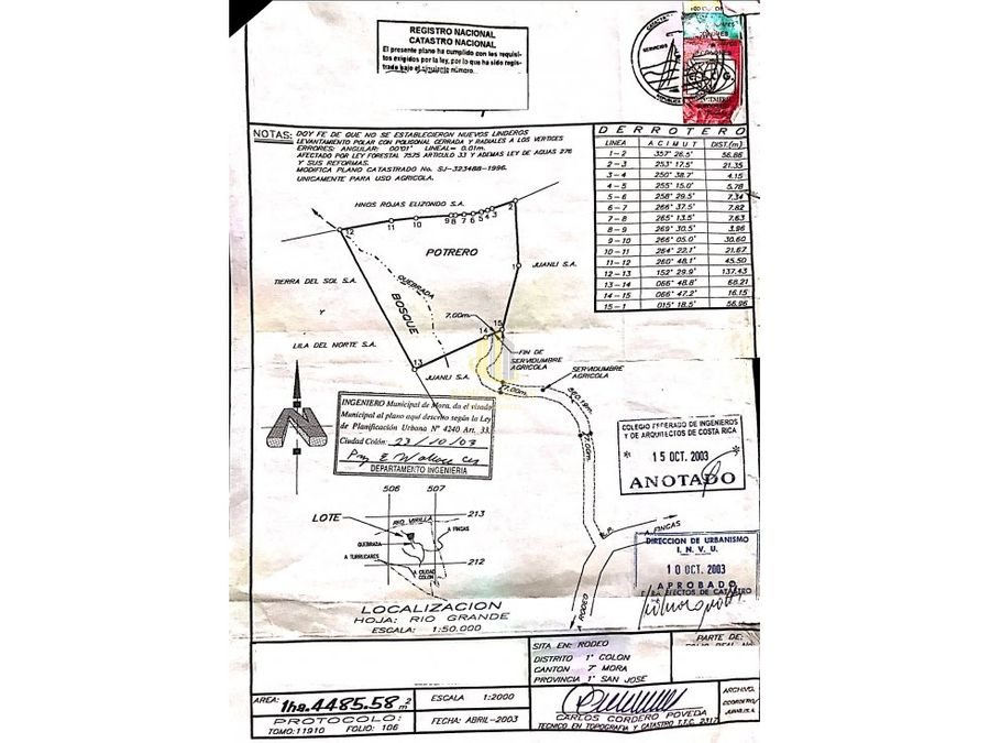 venta finca 145 ha en el rodeo mora ganga 12m2