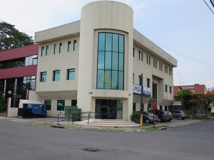 alquiler de oficina 280 m2 en edificio sabana norte