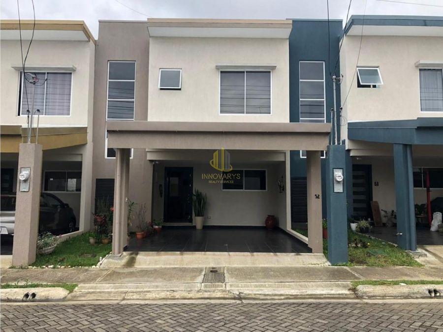venta de casa de 3 cuartos en condominio san pablo de heredia