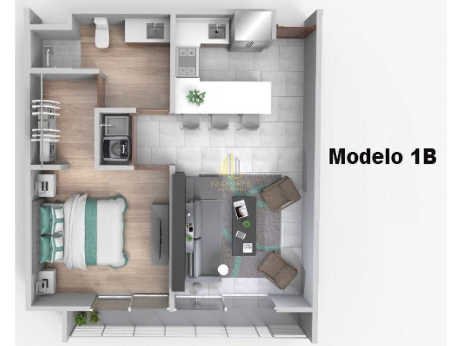 venta de apartamento 1 cuarto en caia escazu
