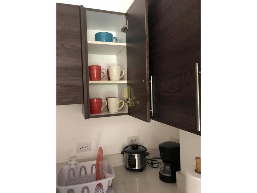 alquiler de apartamento amoblado de 1 cuarto en montesol