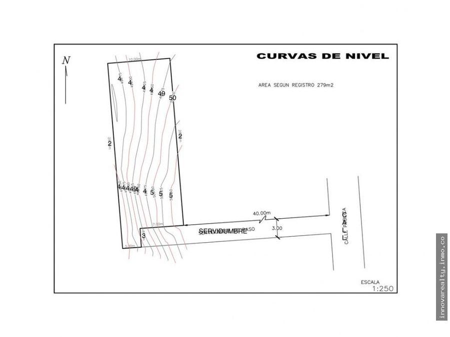 venta lote residencial 279 m2 para casa de 1 piso brasil santa ana