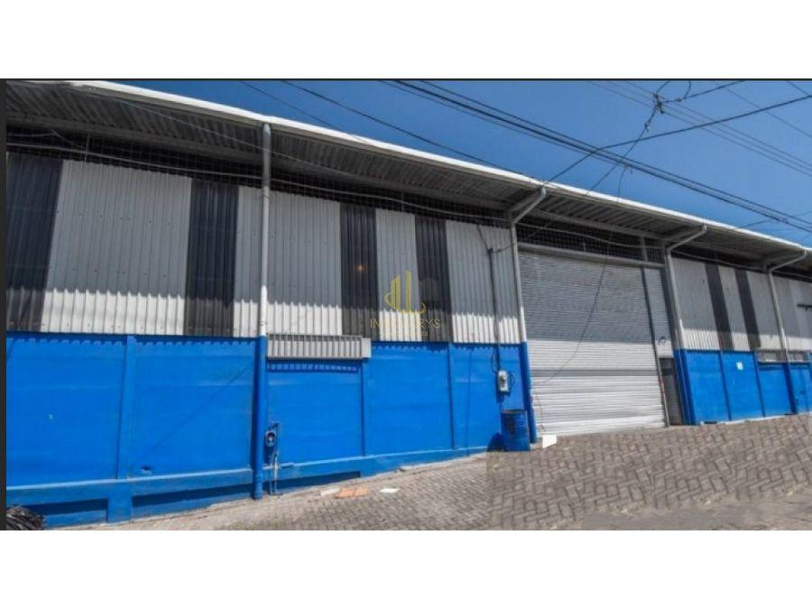 alquiler de bodega de 275 m2 en complejo de bodegas en pavas
