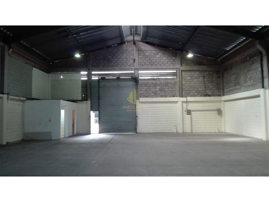 alquiler de bodega de 333 m2 en condominio en pavas