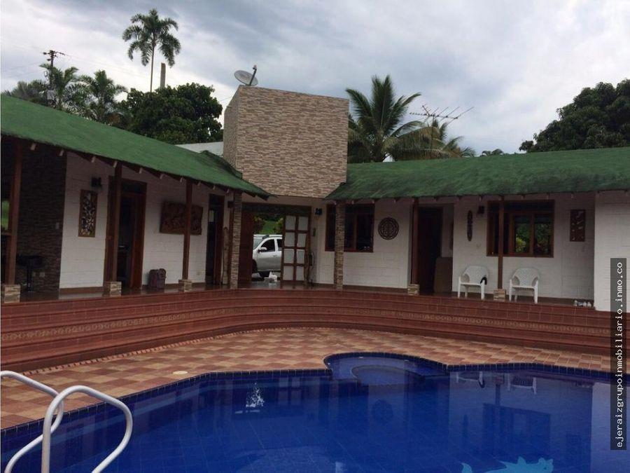 casa campestre en venta santagueda