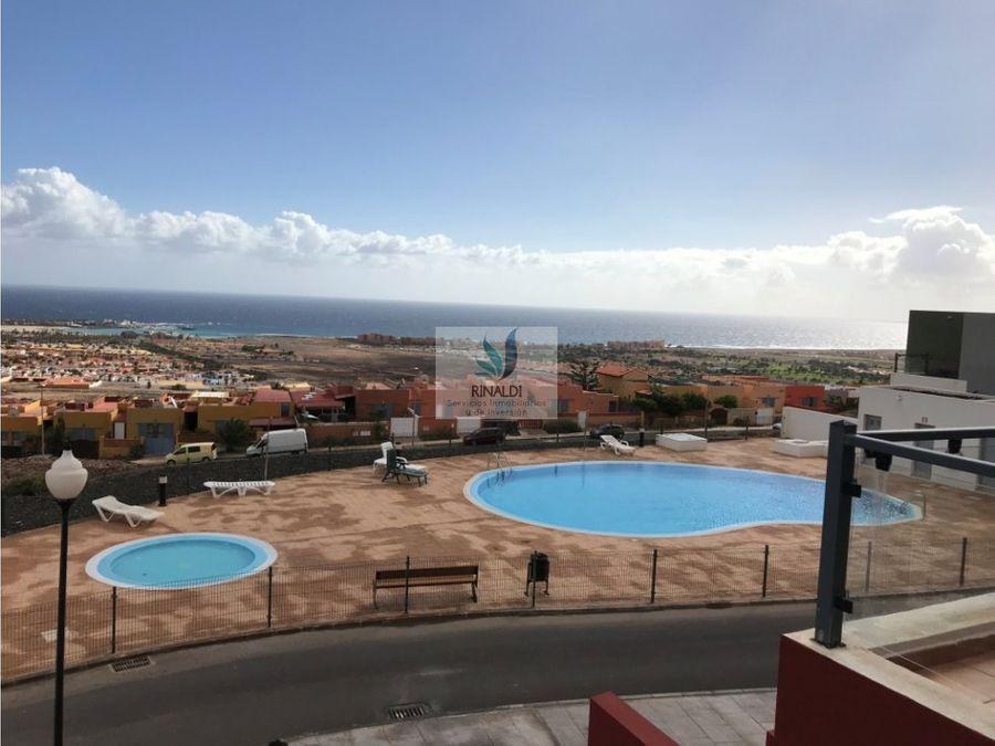 caleta de fuste se vende triplex vista al mar