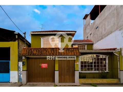 casa de dos pisos de alquiler con garaje en el centro de machala ega