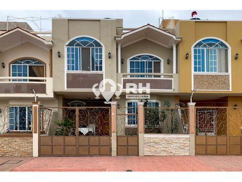 casa de dos plantas en venta en brisas real machala jrah