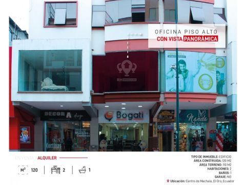 oficina en alquiler en el centro de machala en avenida principal jcg