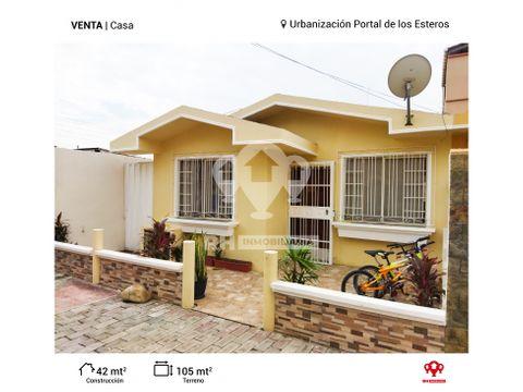 casa en venta en urb portal de los esteros machala psa
