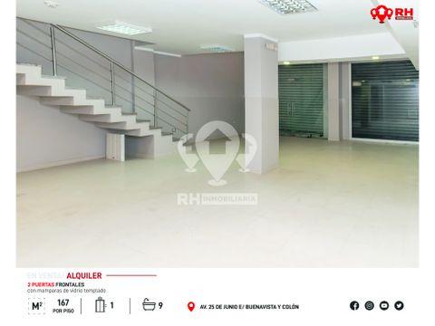 edificio con mezzanine en alquiler en el centro de machala evcv