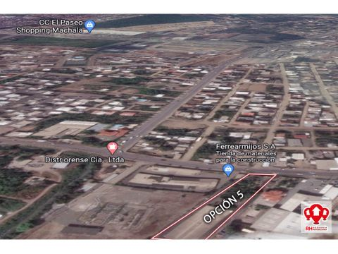 terreno en venta en via principal comercial machala mb07