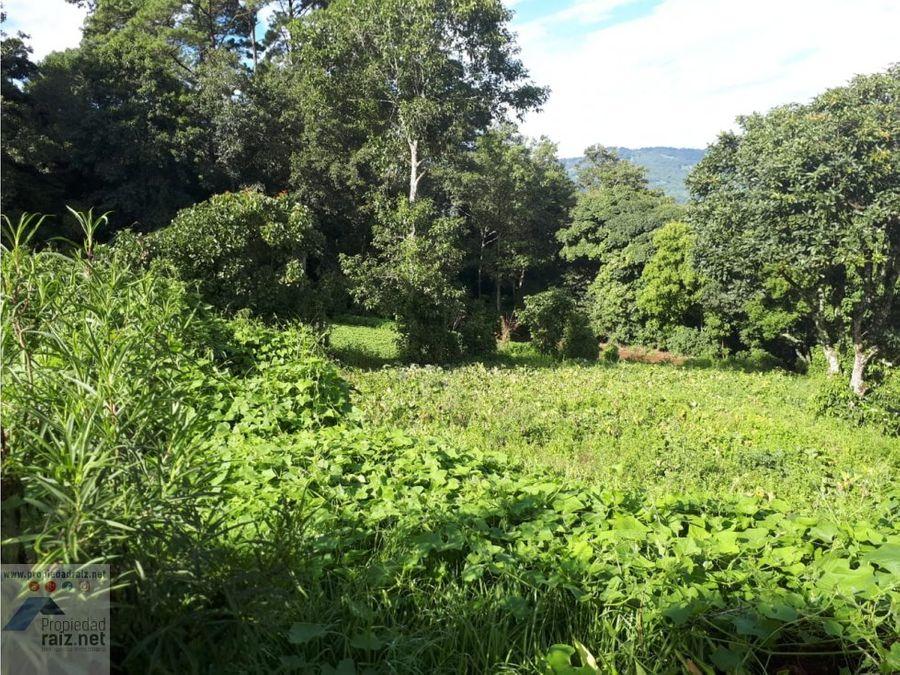 terreno tipo granja en santiago sacatepequez d