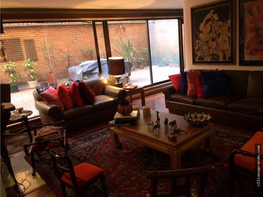 apartamento amoblado en chico con 113mts2 de terraza privada