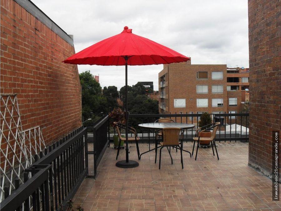 excelente penthouse con terraza en santa barbara