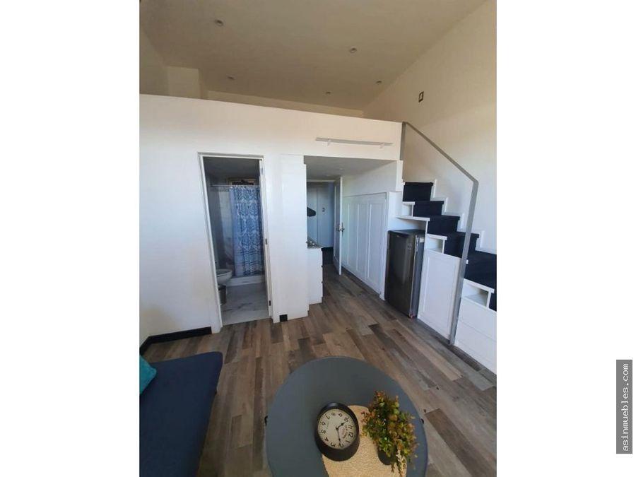 apartamento loft con pergola