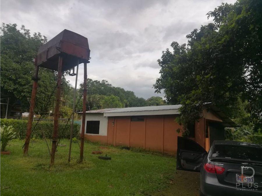 amplio terreno en venta en esparza con 2 casas
