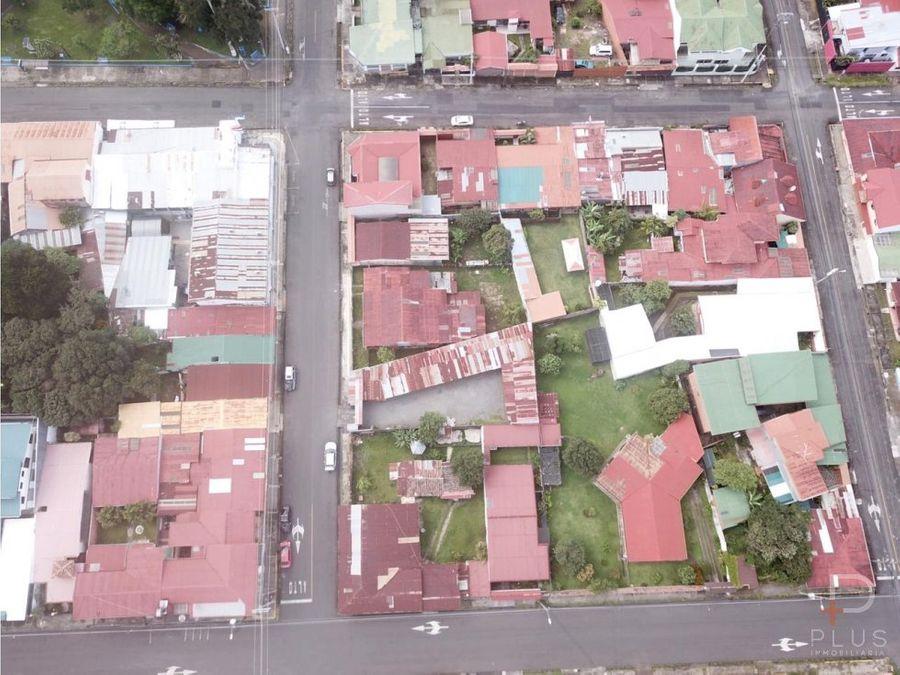 terreno uso residencial comercial santo domingo heredia centro jv138
