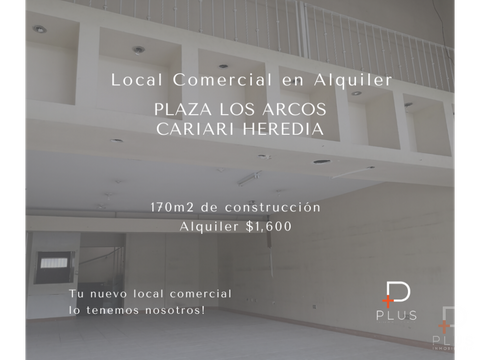 local comercial alquiler plaza los arcos cariari heredia rc160