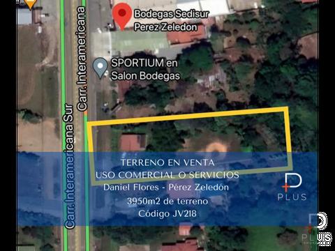 ganga terreno venta comercial daniel flores interamericana sur jv218