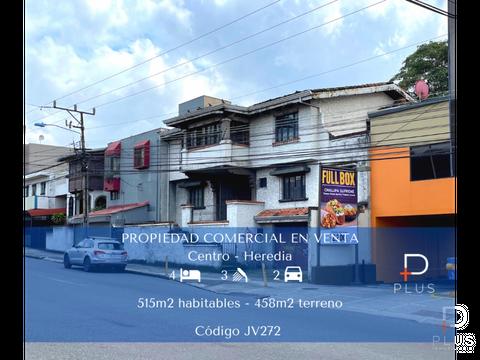 propiedad comercial venta para remodelar heredia centro cod jv272
