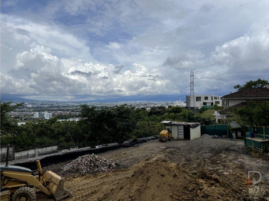 lote listo para construir condominio cerro alto escazu cod jv267