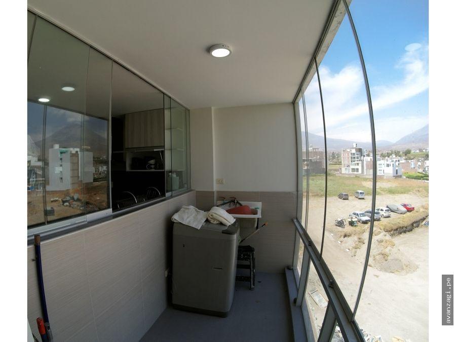 moderno departamento en urb la pradera de cerro colorado
