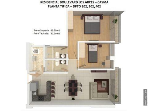 departamento en cuarto piso urbanizacion exclusiva de cayma
