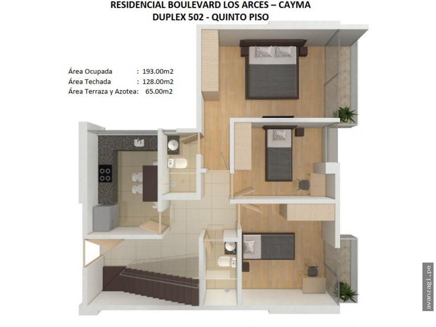 hermoso duplex en zona exclusiva de cayma