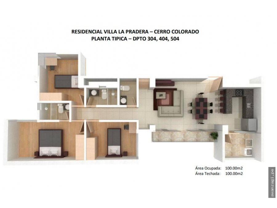 hermoso flat en proyecto urbanizacion la pradera
