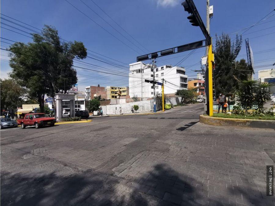 venta de terreno comercial en excelente ubicacion yanahuara
