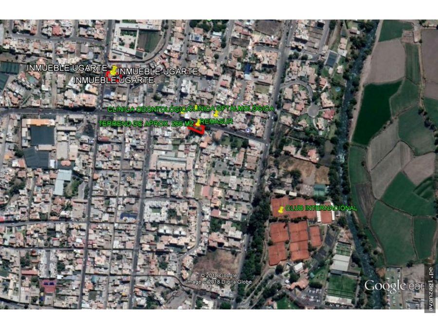 terreno en excelente ubicacion leon velarde yanahuara