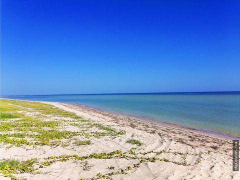 ultimos terrenos en la playa a 50 min de merida costa esmeralda