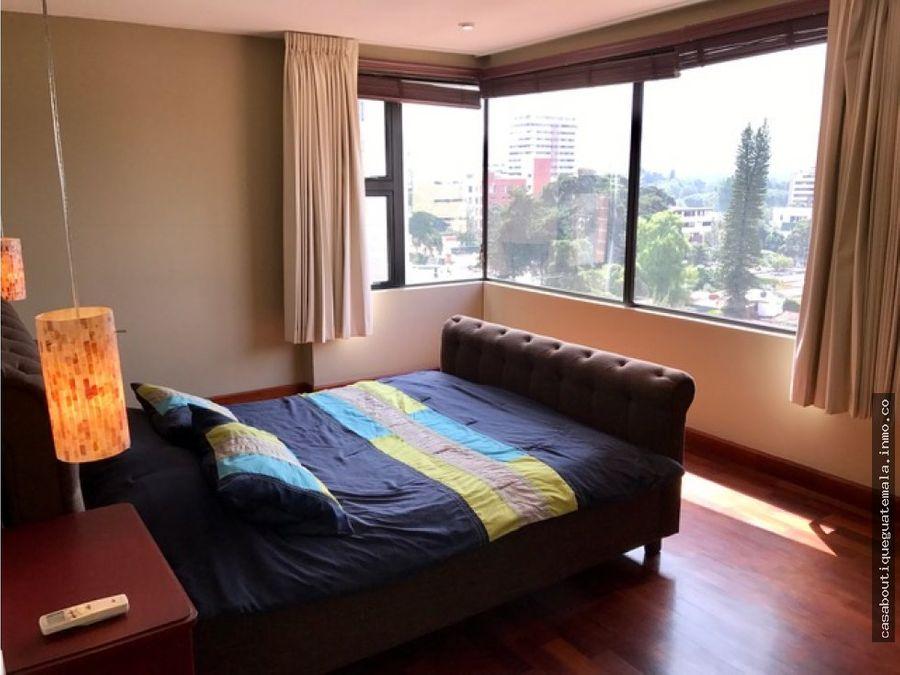 apartamento en nivel alto en san patricio zona 14