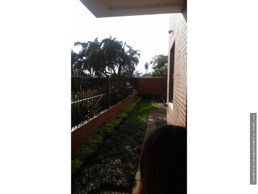 apartamento con jardin en primer nivel zona 13