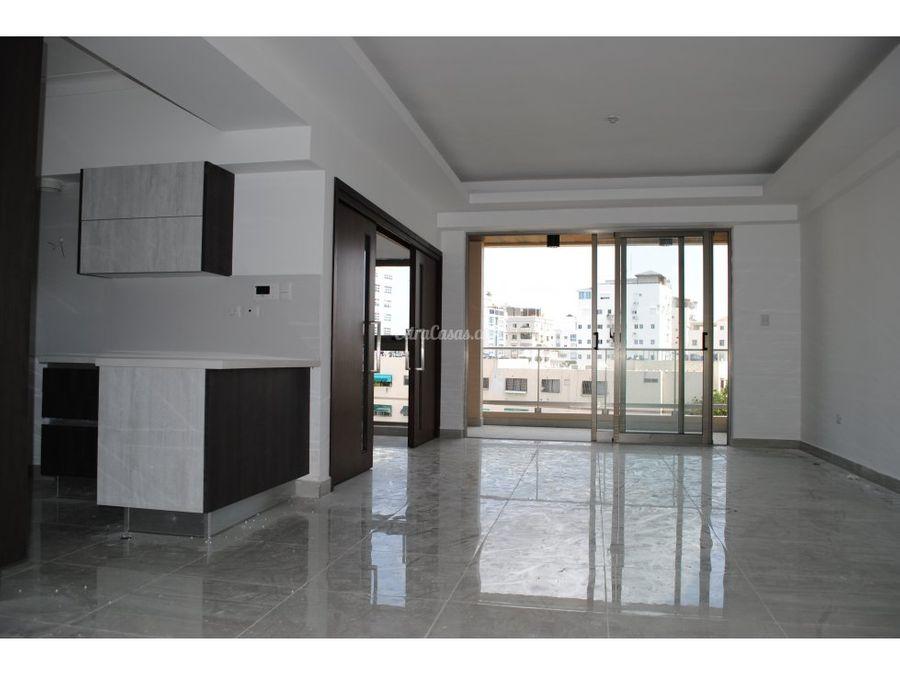 apartamento en venta con terraza en cacicazgos