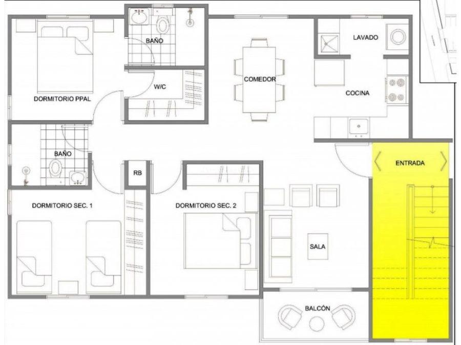 apartamento en venta en villa mella