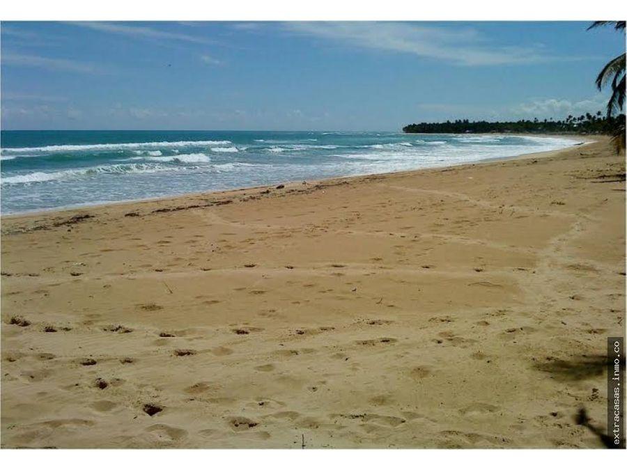 bavaro terreno turistico con playa en uvero alto