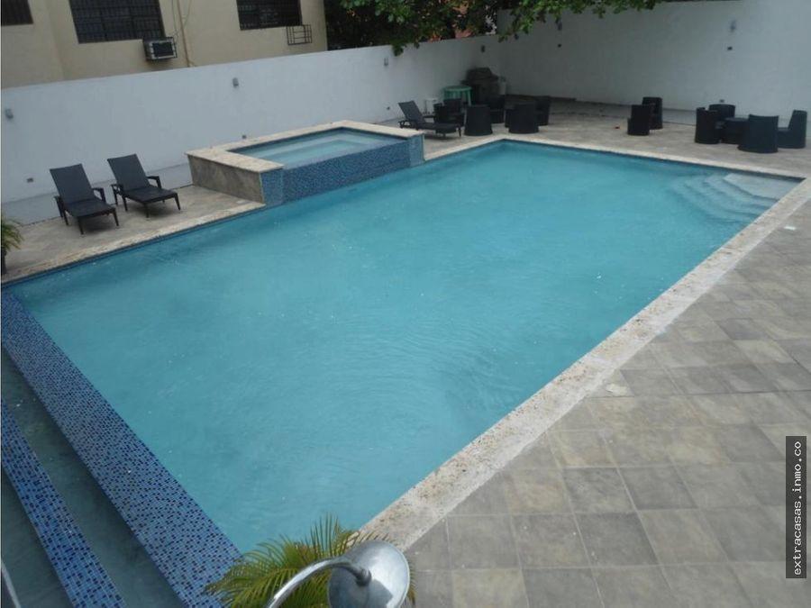 naco apartamento de lujo con piscina