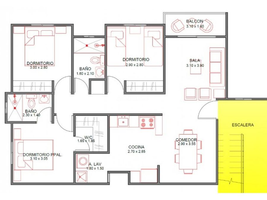 apartamento en venta en los hidalgos