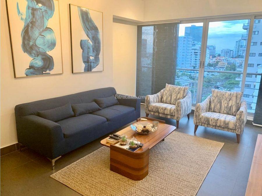 apartamento en alquiler amueblado en piantini