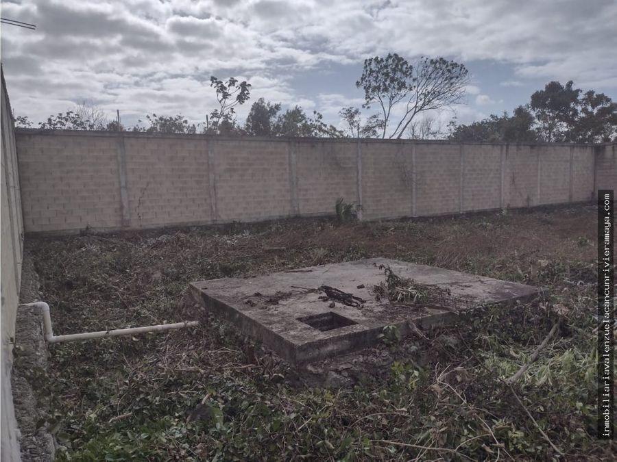 terreno bardeado cancun